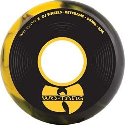 OJ III Skateboard Wheels 54mm Wu-Tang Keyframe 87A Black/Yellow Swirl