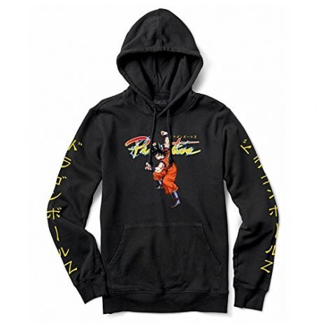 Primitive Skate x Dragon Ball Z Men's Nuevo Goku Pullover Long Sleeve Hoodie Black-S