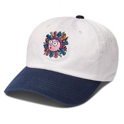 Primitive Skate x Rick & Morty Men's Morty Dad Strapback Hat White Blue
