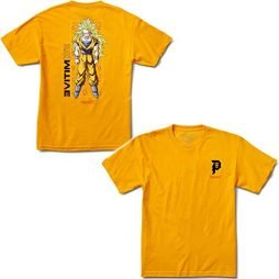 Primitive Skateboards Dragon Ball Z Goku Glow Shirt Gold