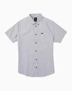 RVCA Men's Thatll Do Stretch Short Sleeve Woven Button Up Shirt