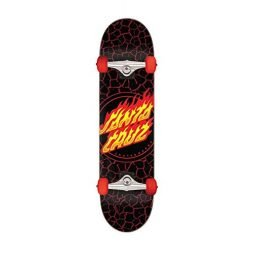 Santa Cruz Skateboards Complete Flame Dot Black 8.0″ x 31.25″ Assembled