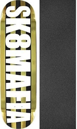 "Sk8mafia Skateboards OG Logo Skateboard Deck - 8.3"" x 32"" with Mob Grip Perforated Black Griptape - Bundle of 2 Items"