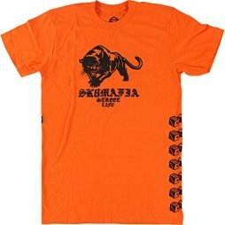 Sk8mafia Skateboards Street Life Orange Men's Short Sleeve T-Shirt - Small