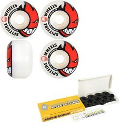 Spitfire Skateboard Wheels with Hybrid Ceramic Bearings Bighead 52mm White 99A