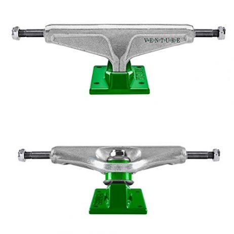 Venture Skateboard Trucks Dot Polished/Green 5.2 (8.0″)