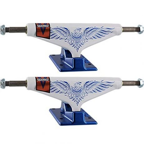 Venture Trucks Paul Rodriguez P-Rod Feniks LTD Pro V-Hollows High White/Blue Skateboard Trucks – 5.25″ Hanger 8.0″ Axle (Set of 2)