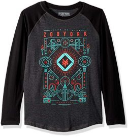 Zoo York Boys' Big Long Sleeve Raglan Tee