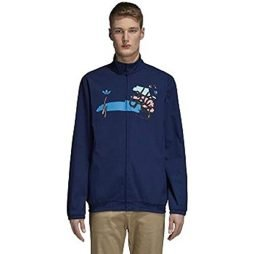 adidas Hélas Mens Skateboarding Jacket Blue (Medium)