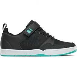 eS Men's Accel Plus Ever Stitch Skate Shoe, Black/Teal, 11.0 Medium US