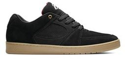 eS Men's Accel Slim Skate Shoe, Black/Gum, 9.5 Medium US